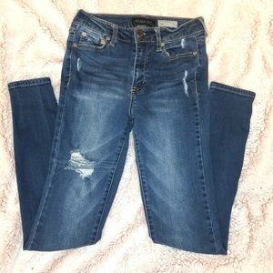 AEROPOSTALE High Waisted Distressed Denim Jegging